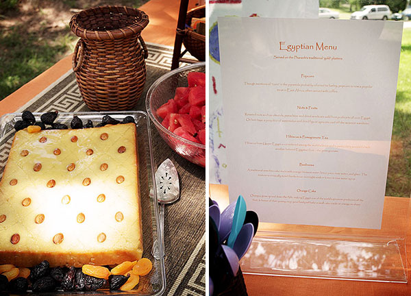 The Menu | How to throw an Egyptian-themed birthday party