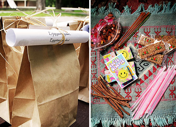 DIY Goody Bags | How to throw an Egyptian-themed birthday party
