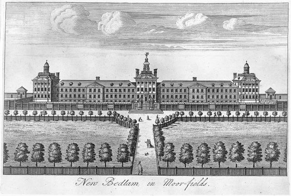 The Hospital of Bethlem, a.k.a. Bedlam, at Moorfields, London (Engraving)