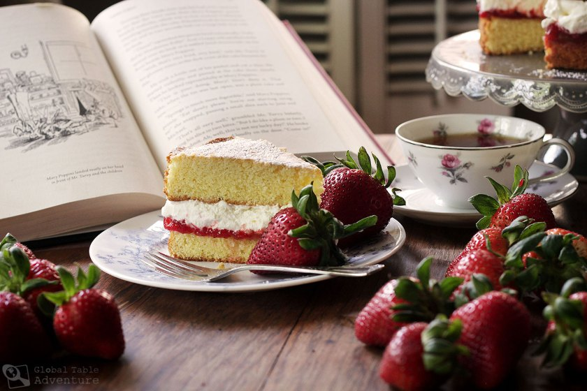 Victoria Sponge Cake Recipe inspired by Mary Poppins