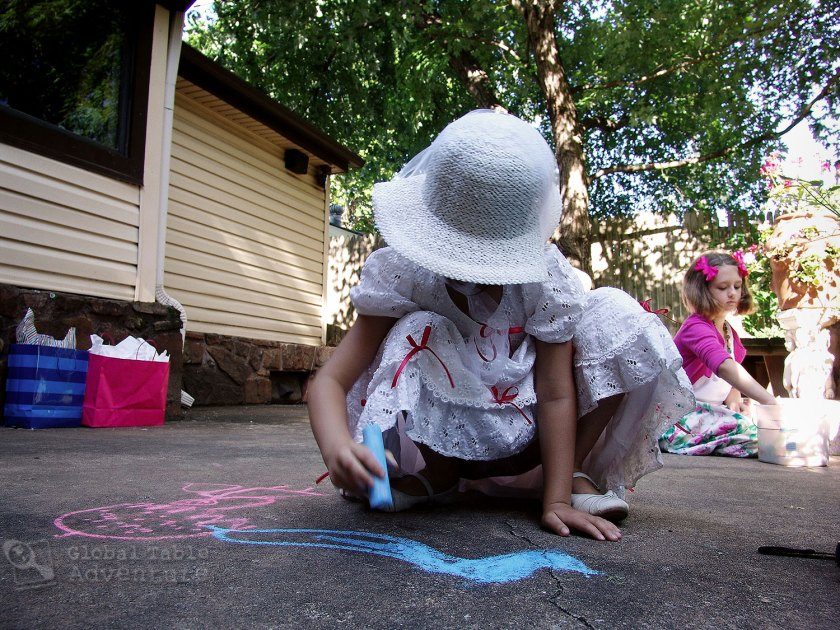 Mary Poppins Sidewalk Chalk