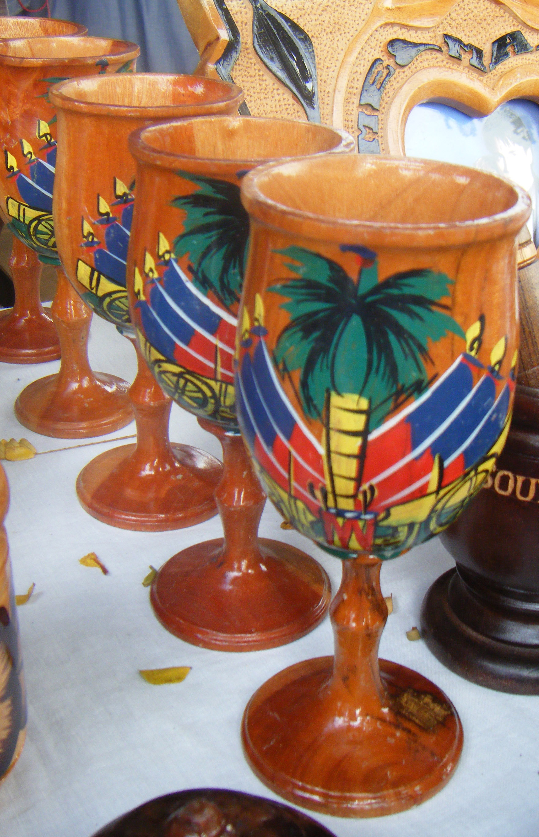 Craft Online Store Craft Online Store Wooden Traditional Haitian Goblet Image Of Haiti