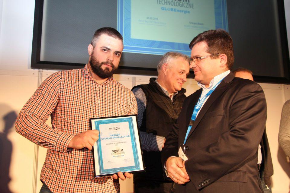 Nagrodę odbiera firma DERKON Systemy Instalacyjne