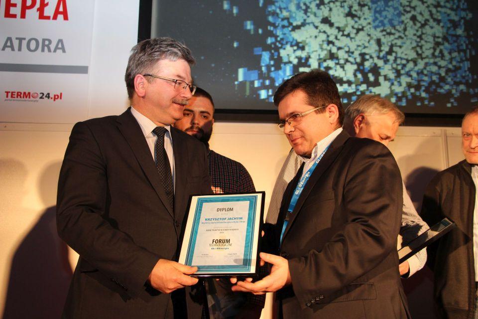 Nagrodę odbiera Pan Krzysztof Jachym