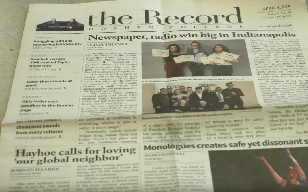 The Record wins Newspaper of the Year GLOBE RADIO 911 FM WGCS