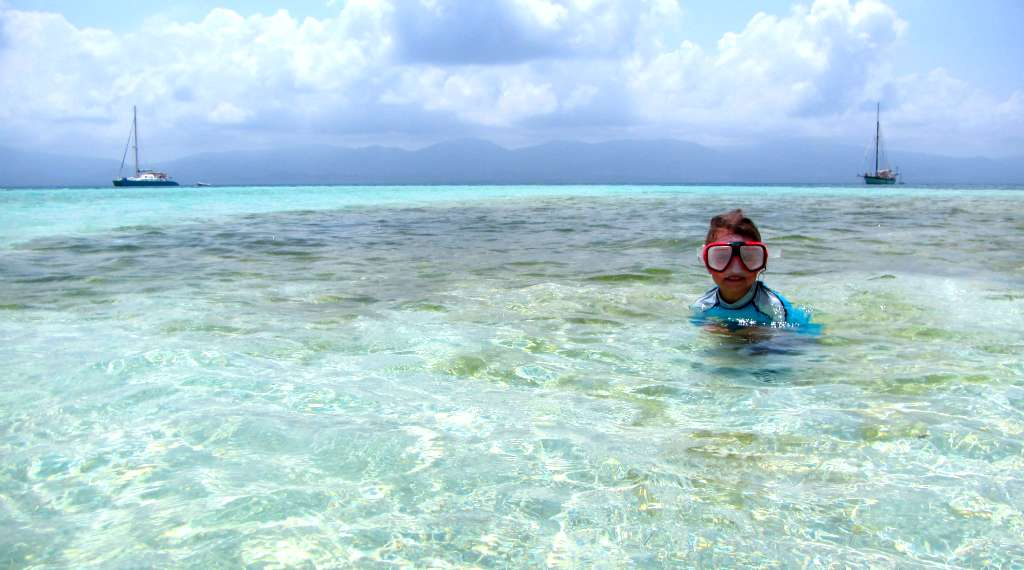Snorkeling in the sparkling waters of San Blas, Panama