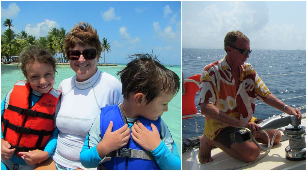 Our lovely sailing hosts in San Blas, Panama