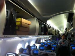 787 Overhead bins are spacious