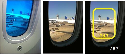 787 vs 747 Window Comparison