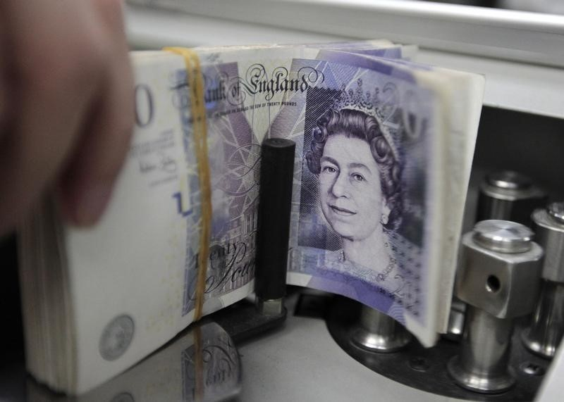 © Reuters. Sterling falls to days lows after weak U.K. manufacturing output data