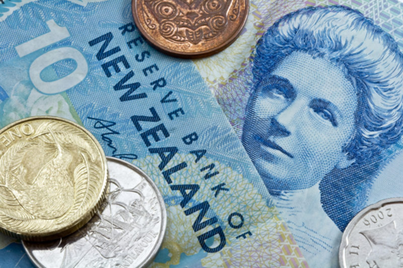 Kiwi down after RBNZ holds