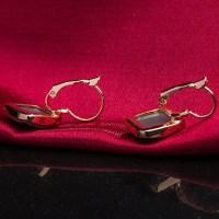 2017 Faux Emerald Geometric Earrings ROSE GOLD In Earrings ...