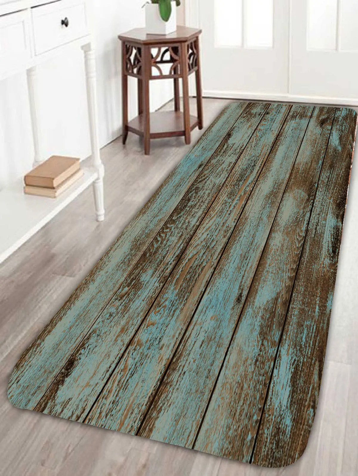 Vloerkleed Badkamer 2018 Wood Grain Print Bathroom Rug Green W Inch L Inch In