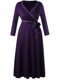 2018 Long Sleeve Plus Size Formal Wrap Dress CONCORD XL In ...