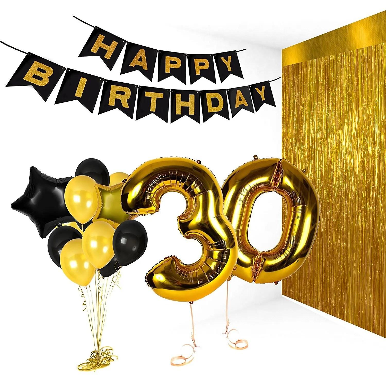 Fashionable Swirls Pack Birthdaydecorations 2018 Birthday Party Pack Happy Birthday Bunting Poms And Birthday Party Pack Happy Birthday Bunting Poms decor 50th Birthday Decorations