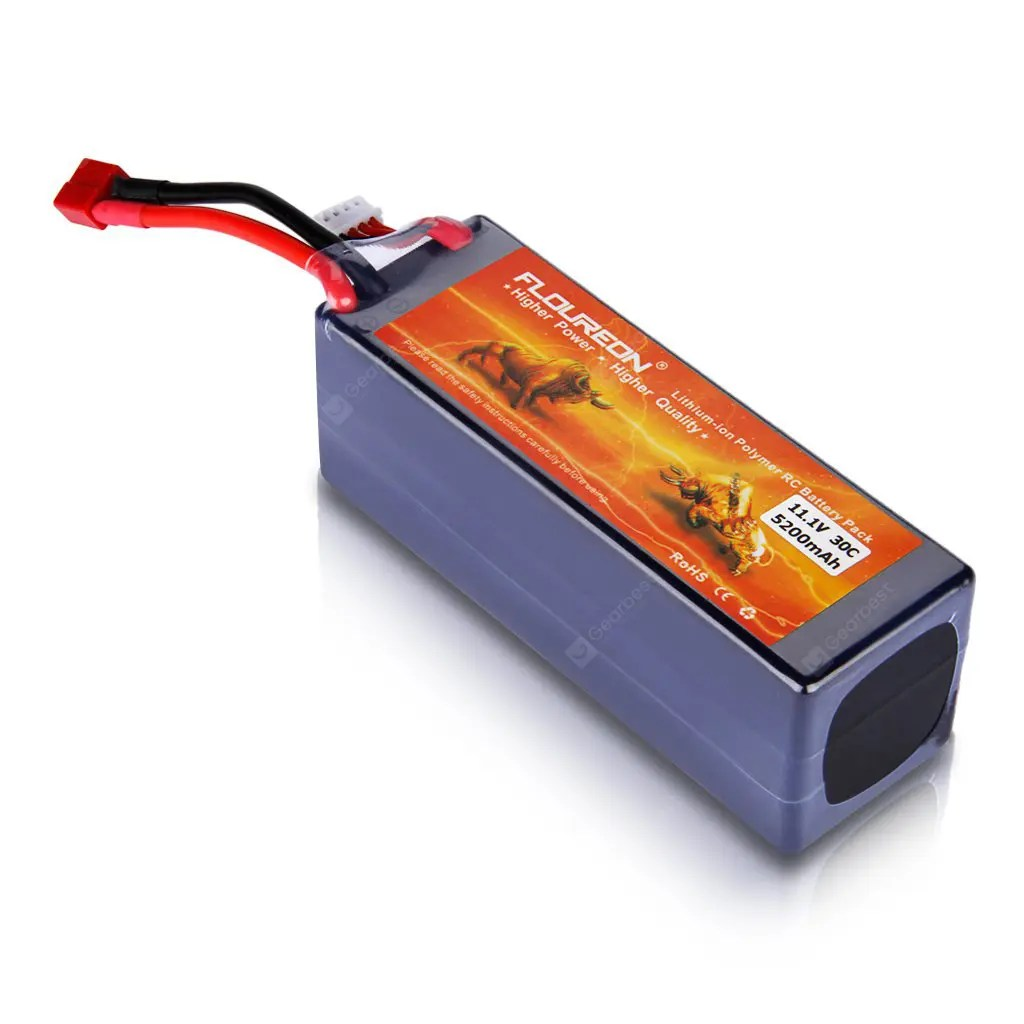 3s Lipo Floureon 3s Lipo Battery Pack With Hard Case 11 1v 5200mah 30c Deans Plug For Rc Helicopter Rc Airplane Rc Hobby
