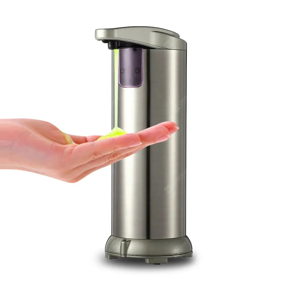 Soap And Shampoo Dispenser Ad 02c 280ml Shower Stainless Steel Sensor Touch Free Soap Shampoo Dispenser