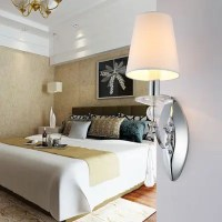 LED Wall Light Lamp Fabric Lampshade Bedroom Bathroom ...