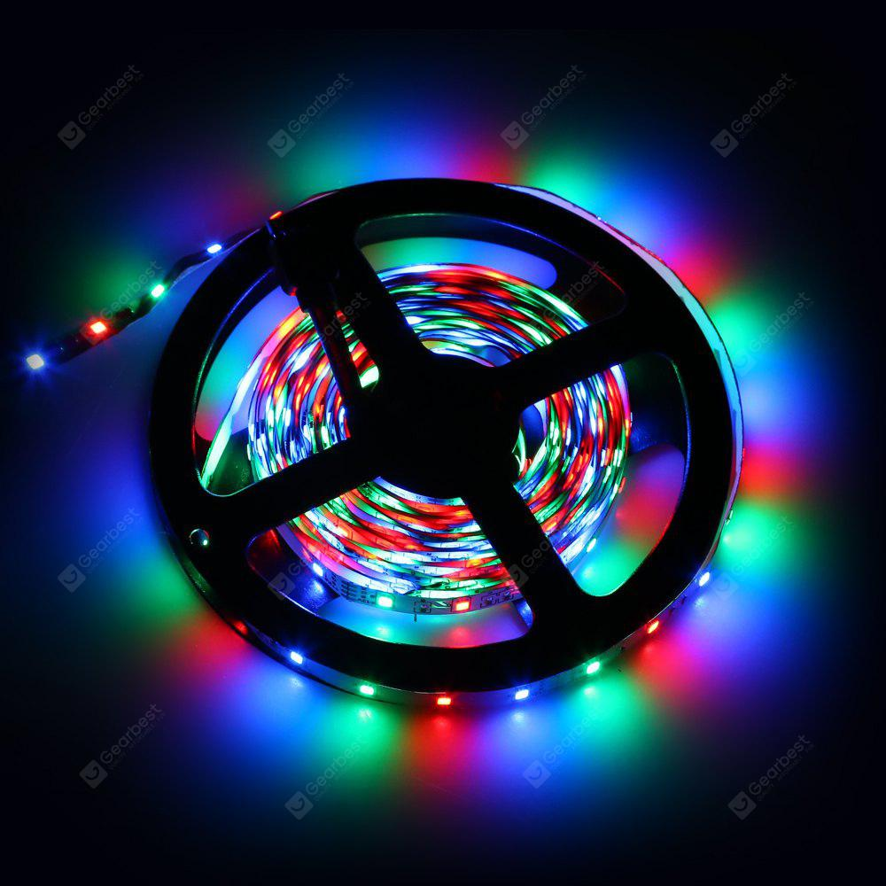 Led Light Strips Rgb Excelvan 16 4ft 5m Flexible Strip Smd3528 Rgb 300leds Color Changing Led Light Strip Kit 44key Ir Remote Control 2a Power Adapter Multi Color