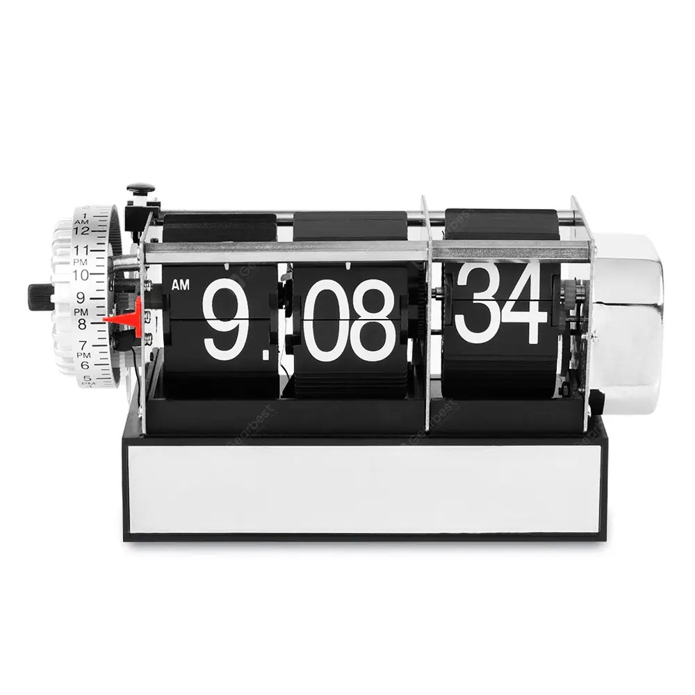 Flip Clock Antique Style Digital Dynamic With Alarm Clock Table Alarm Flip Clock Gift Desk Table Clock