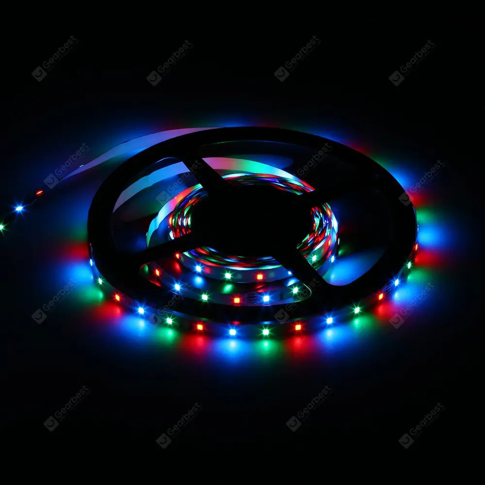 Led Light Strips Rgb 5 Meters X 60 Smd 2835 Leds 1500lm Cuttable Adhesive Rgb Led Light Strip 30w Dc 12v