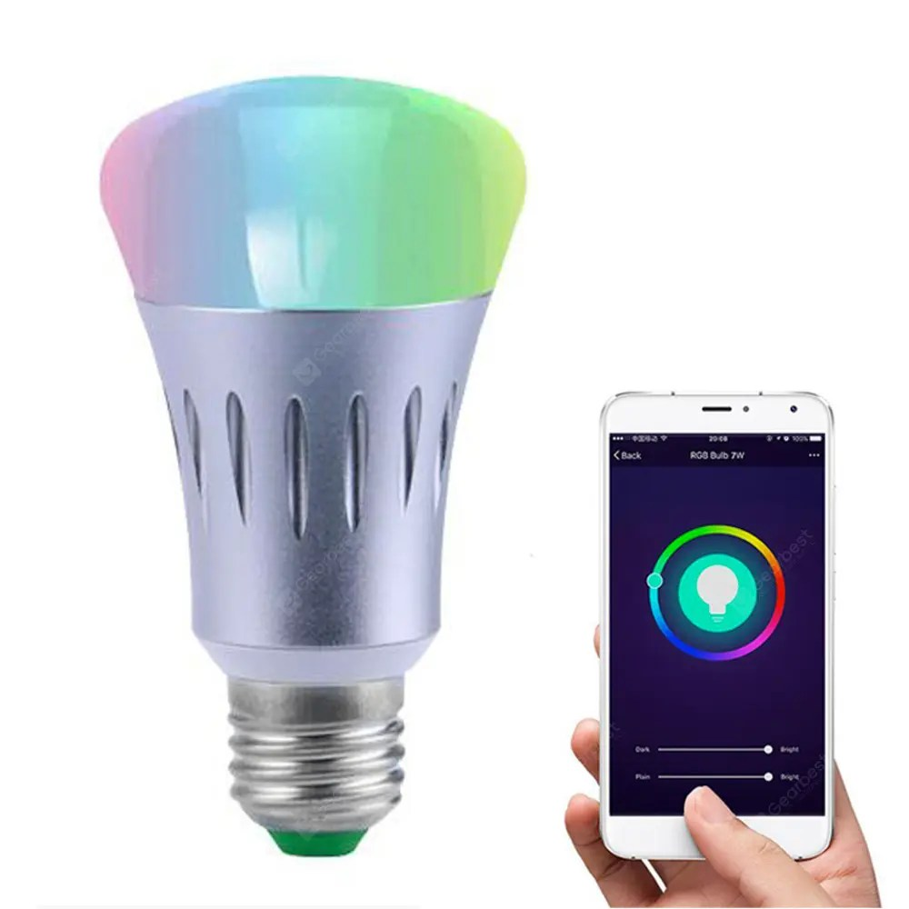 Lamp Bulb Jiawen Led Wireless Wifi App Remote Control Smart Light Dimmable Rgb Led Lamp Bulb
