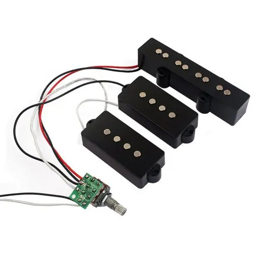 3 Band EQ Preamp Circuit Bass Guitar Wiring Harness and JB Pickup