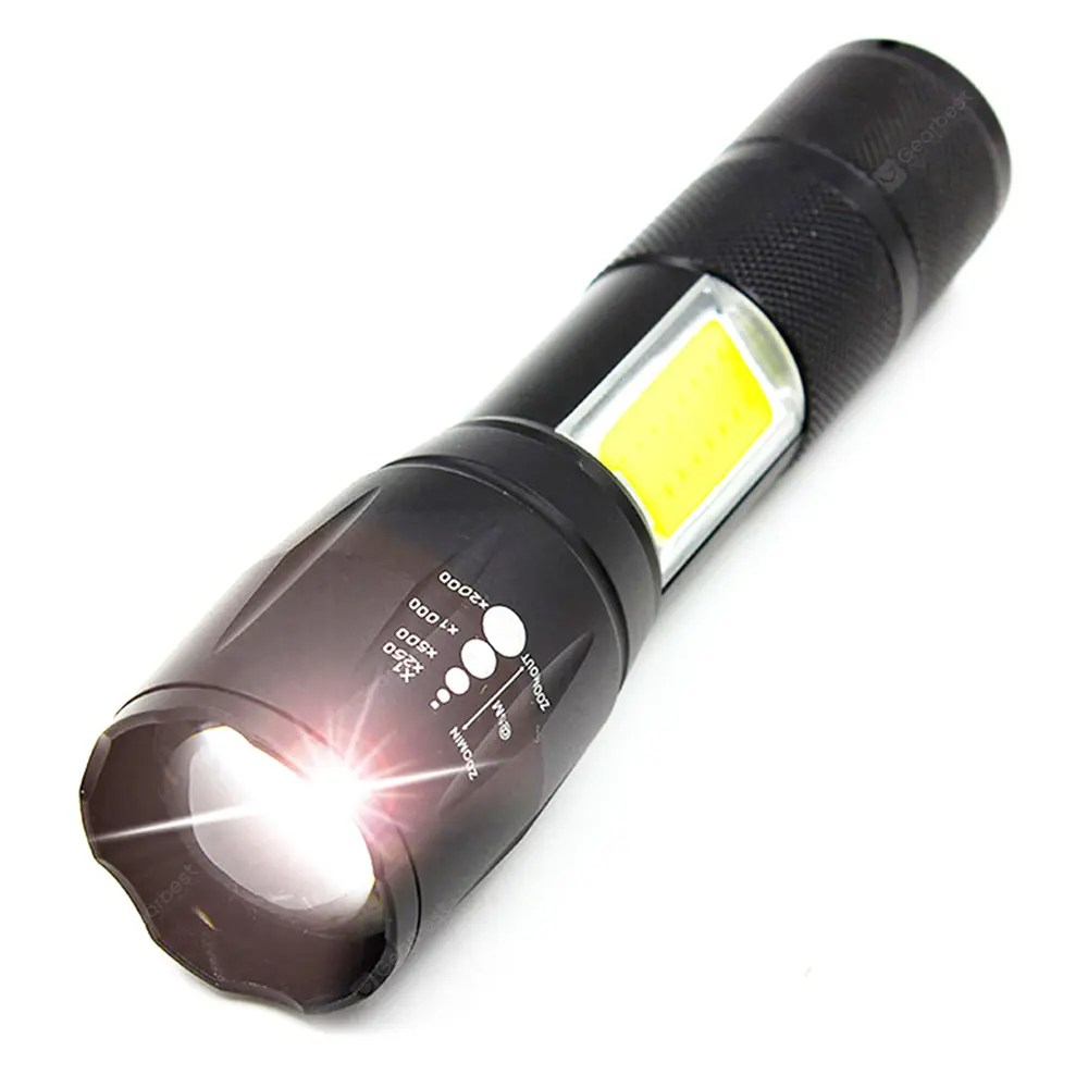Book Lights 2018 New Xml T6 Cob Zoomable Led Flashlight And Book Lights