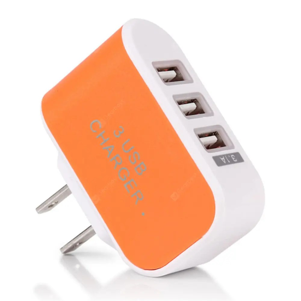 Bogenlampe Idealo 3usb Candy Charger Led Light Mobile Charging Head Smart Multi Port Usb Charger Orange Gearbest