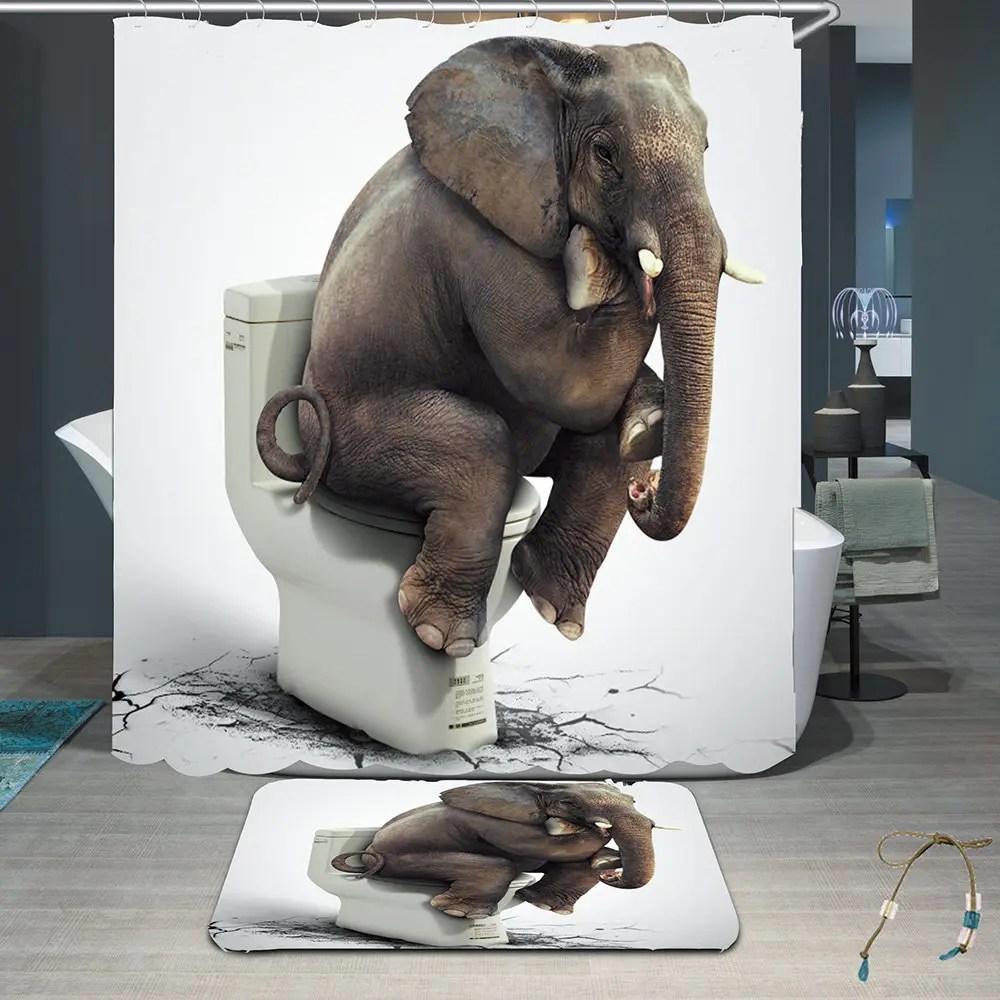 Fullsize Of Elephant Shower Curtain