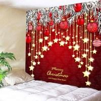 [ 42% OFF ] 2018 Wall Decor Christmas Ball And Star Print ...