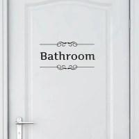2018 Vintage Wall Sticker Bathroom Decor Toilet Door Vinyl ...