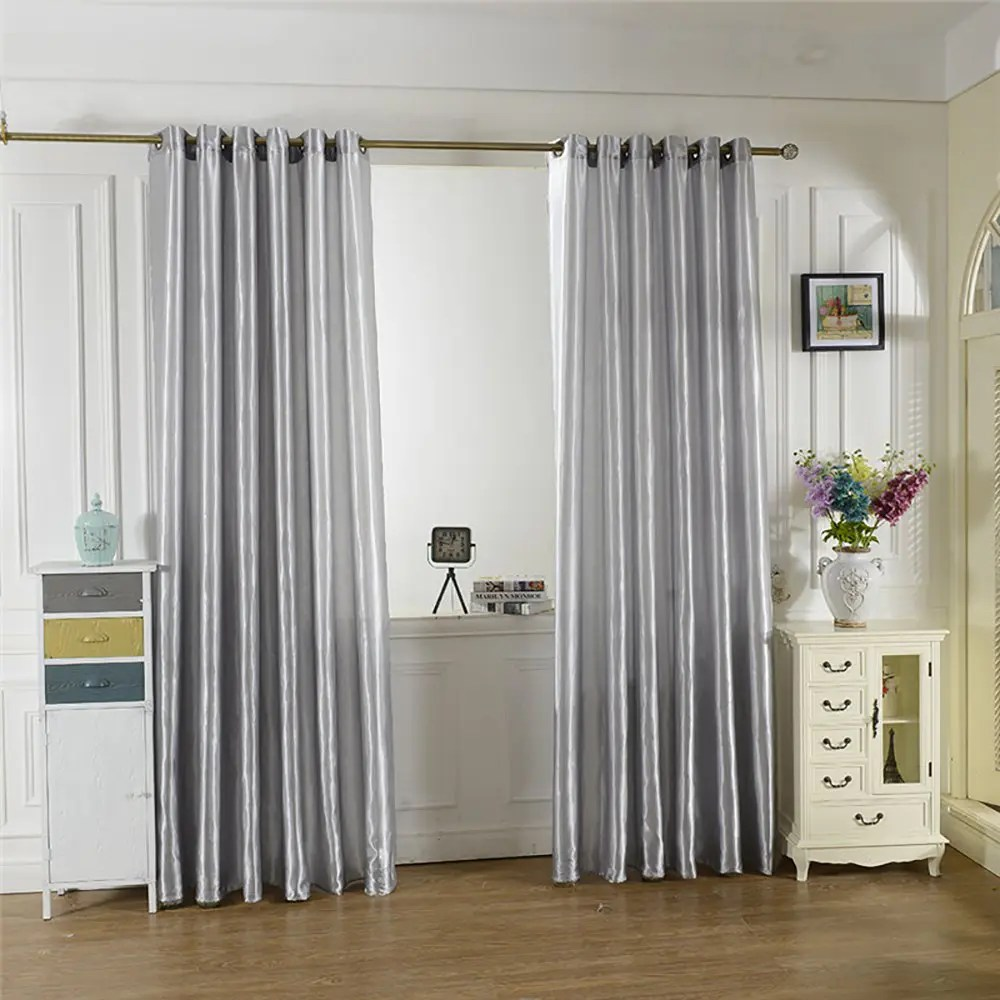 Cheap Stylish Curtains Fashion Solid Color Home Decoration Curtains