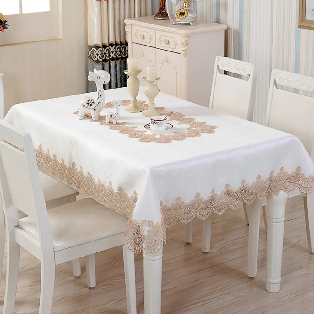 Decoration Nappe De Table Nappe Rectangulaire De Foret De Satin De Dentelle De Décoration De Table De Maison De Mode