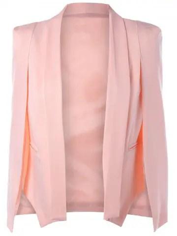 Light Pink Slit Cape Sleeve Shawl Collar Blazer Rosegalcom