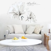 White Flower Vinyl Wall Stickers For Bedrooms | RoseGal.com
