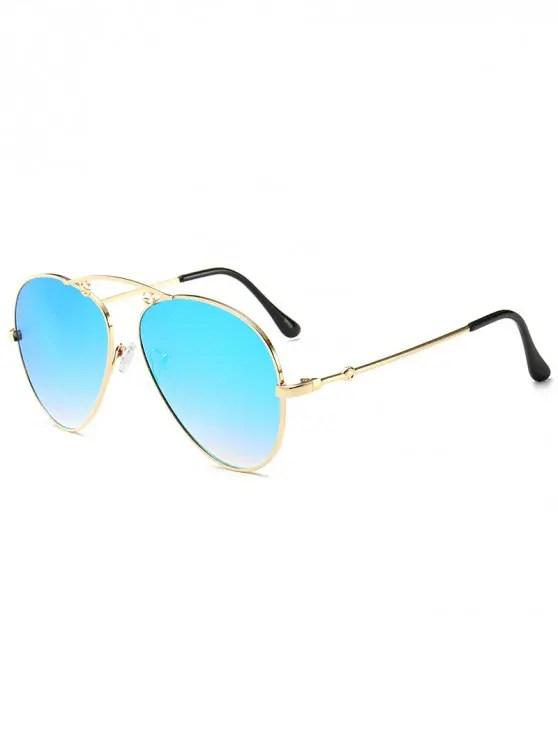 15 OFF 2019 Gradient Metal Pilot Sunglasses In BABY BLUE ZAFUL NZ