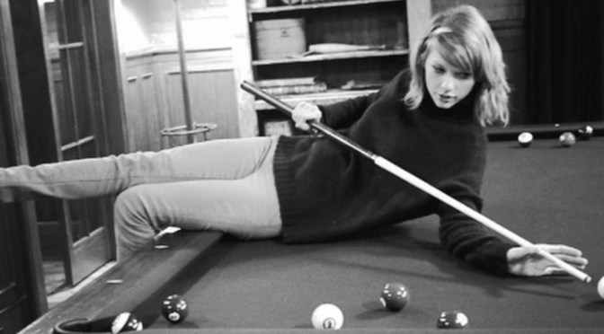 Taylor Swift playing pool