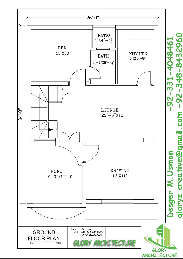 House Plan Drawing 4 Marla House Plan Glory Architecture