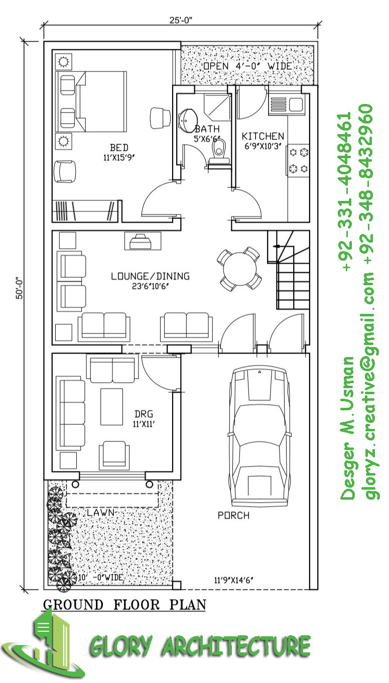 House Plan Drawing 2550 House Plan 5 Marla House Plan Glory Architecture