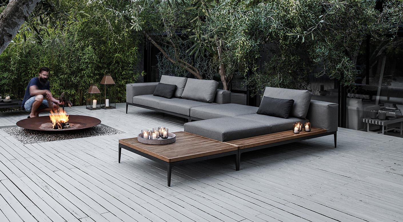 Mobilier Exterieur Gloster Gloster Grid Collection Modern Luxury Outdoor Furniture Gloster