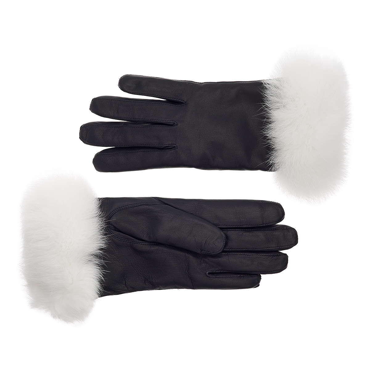 Fur Womens Women S Rabbit Fur Lined Leather Gloves With White Fur Cuff Ladies Fur Lined Gloves Gloves Online