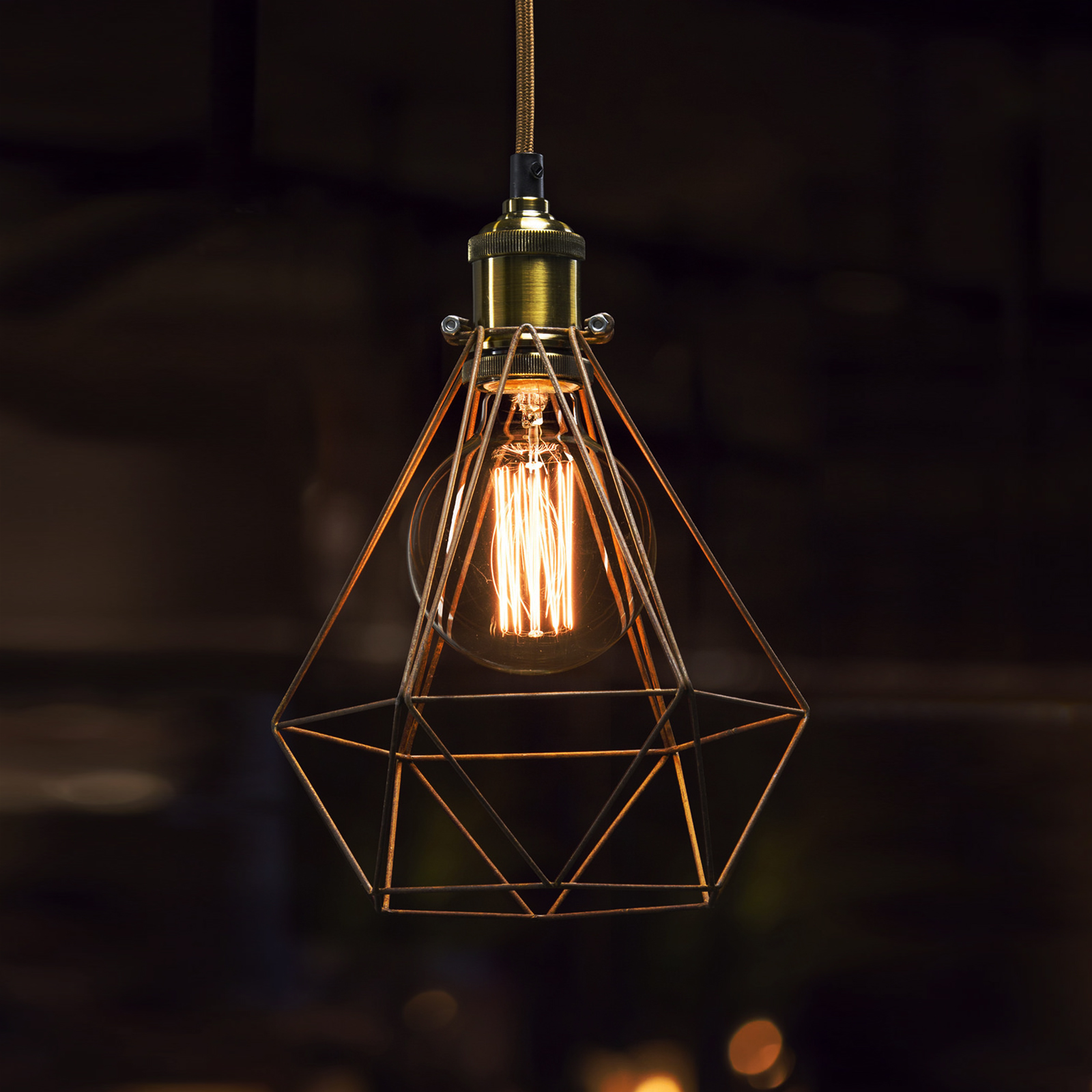 Industrial Vintage Lighting Bulb Cage Light Fittings Bulb Cage Industrial Vintage