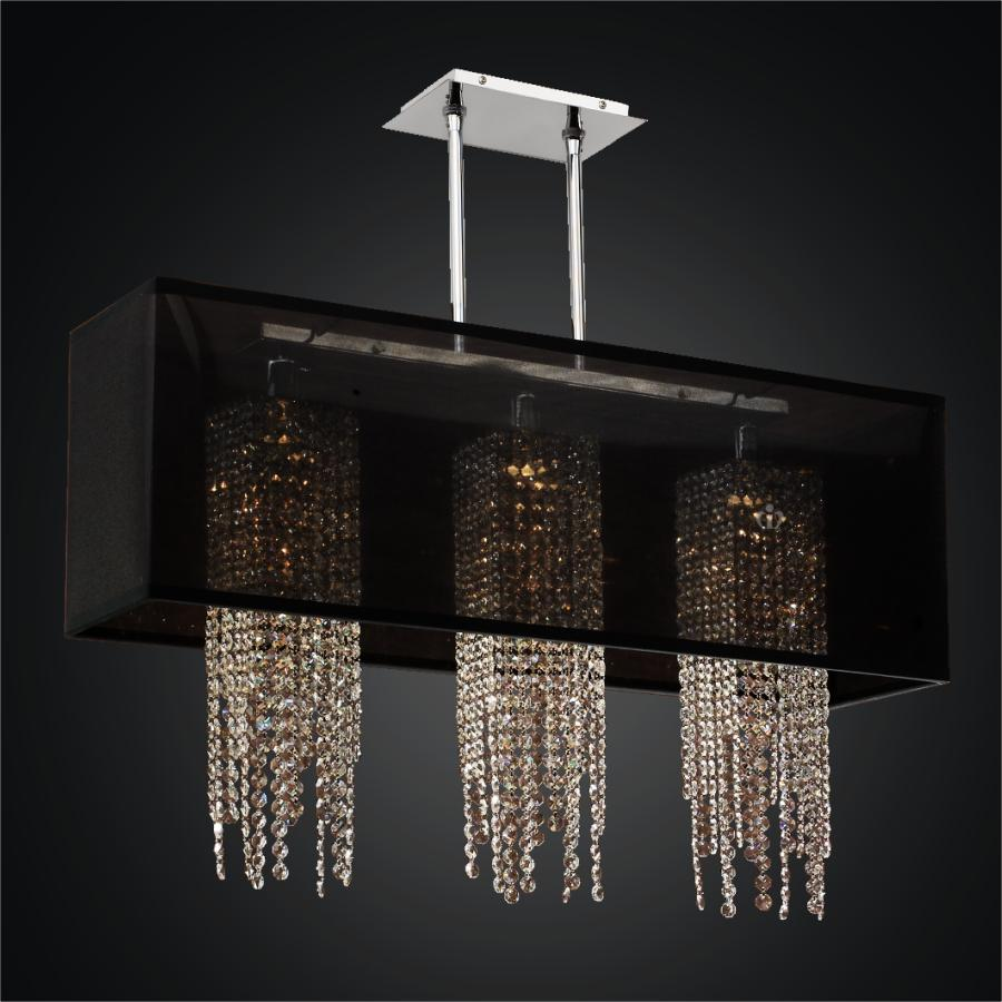 Kitchen Island Lighting Replacement Shades Rectangular Shade Chandelier With Crystals | Bindu Bhatia