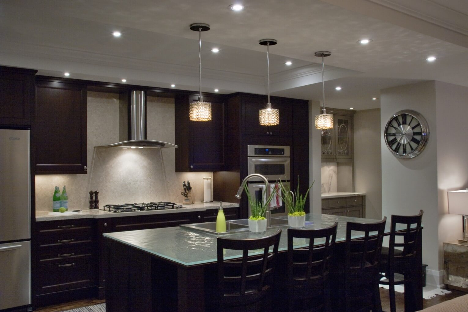 Maria 5 Light Kitchen Island Pendant Layered Lighting With Crystal Chandeliers - Doing It The