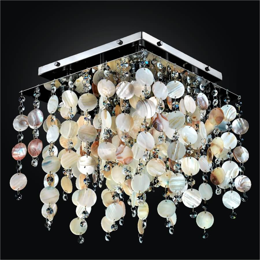 Lights Ceiling Cityscape 598sc Natural Shell Ceiling Lights 4 5 Lights Glow