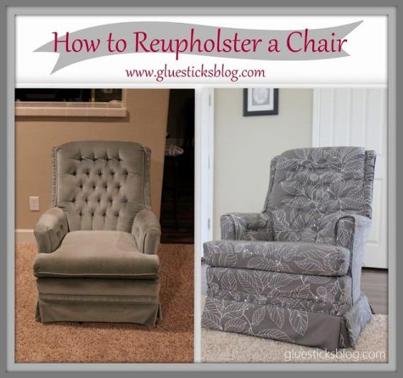 How to Reupholster a Swivel Rocker