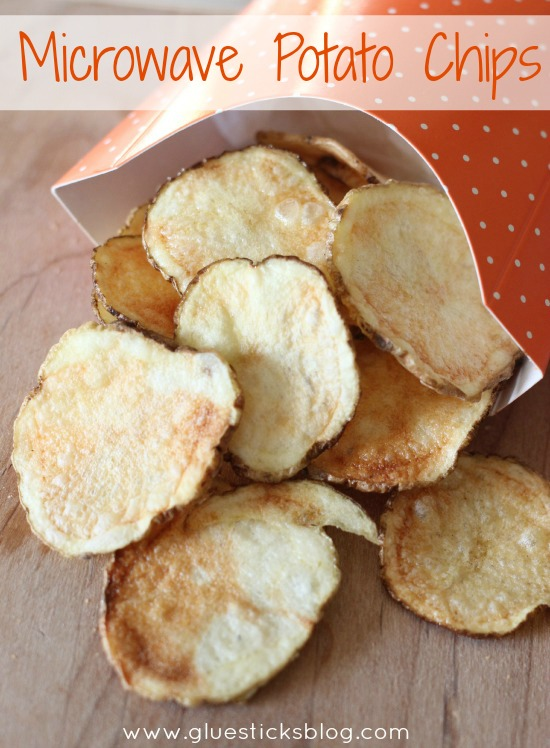 Microwave potato chips gluesticks for Quick snacks to make with potatoes