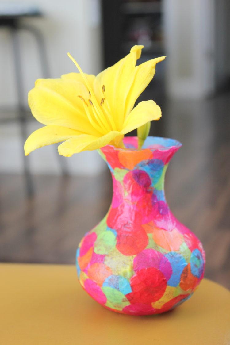 Easy Mod Podge Confetti Vase