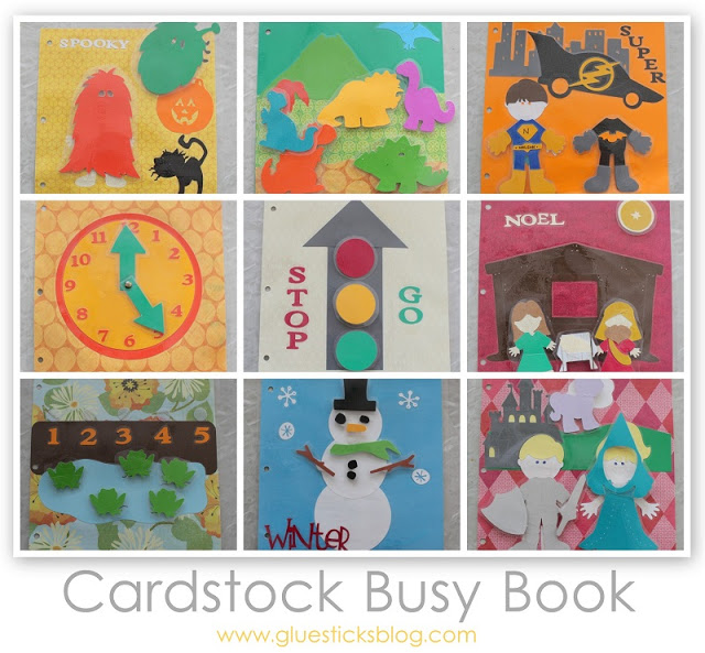 Cardstock Busy Book {No Sewing Required}